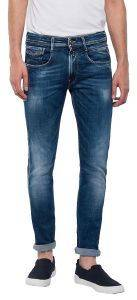 JEANS REPLAY ANBASS SLIM M914Y .000.141 431 ΣΚΟΥΡΟ ΜΠΛΕ