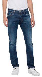 JEANS REPLAY DONNY SLIM TAPERED MA900 .000.93C 438 ΣΚΟΥΡΟ ΜΠΛΕ ένδυση  amp  υπόδηση ανδρασ jeans slim jeans