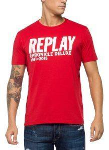 T-SHIRT REPLAY CHRONICLE DELUXE M3725 .000.2660 ΚΟΚΚΙΝΟ