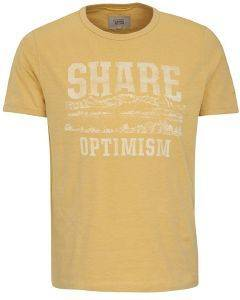 T-SHIRT CAMEL ACTIVE PRINT SHARE OPTIMISM CD-85-118117 ΚΙΤΡΙΝΟ