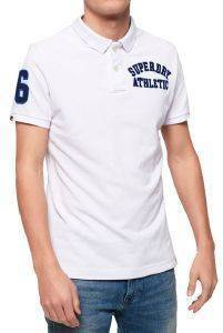 T-SHIRT POLO SUPERDRY CLASSIC SUPERSTATE PIQUE Μ11008ΕΤ ΛΕΥΚΟ