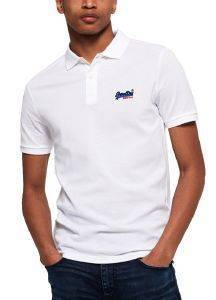 T-SHIRT POLO SUPERDRY MERCERISED LITE CITY M11012ST ΛΕΥΚΟ
