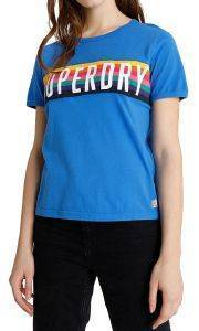 T-SHIRT SUPERDRY RAINBOW GRAPHIC G60143ST 70'S ΜΠΛΕ