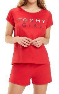 T-SHIRT TOMMY HILFIGER GIRL LOGO UW0UW01619/611 ΚΟΚΚΙΝΟ
