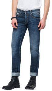 JEANS REPLAY GROVER STRAIGHT MA972 .000.174 566 007 ΣΚΟΥΡΟ ΜΠΛΕ