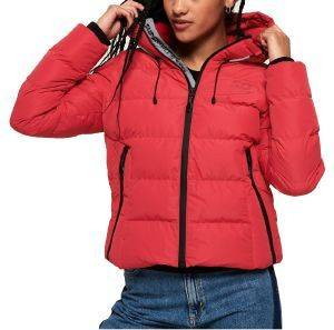ΜΠΟΥΦΑΝ SUPERDRY SPIRIT PUFFER ICON JACKET W5000058A ΚΟΚΚΙΝΟ