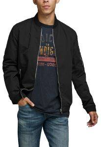 ΤΖΑΚΕΤ JACK & JONES JJERUSH BOMBER 12165203 ΜΑΥΡΟ