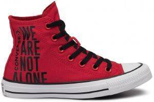 ΜΠΟΤΑΚΙ CONVERSE ALL STAR CHUCK TAYLOR HI 165467C ENAMEL RED/BLACK/WHITE (EUR:42)