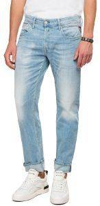 JEANS REPLAY GROVER STRAIGHT MA972 .000.573 664 ΑΝΟΙΧΤΟ ΜΠΛΕ