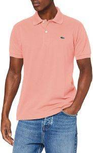 T-SHIRT POLO LACOSTE L1212 5MM ΡΟΖ