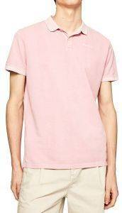 T-SHIRT POLO PEPE JEANS VINCENT GD PM541225 ΡΟΖ