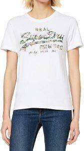 T-SHIRT SUPERDRY GLOSS FLORAL ENTRY W1010042A ΛΕΥΚΟ