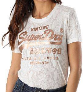 T-SHIRT SUPERDRY SNAKE BURNOUT ENTRY W1010090A ΕΚΡΟΥ