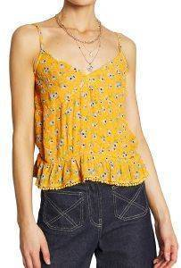 TOP SUPERDRY SUMMER LACE CAMI FLORAL W6010063A ΚΙΤΡΙΝΟ