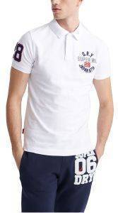 T-SHIRT POLO SUPERDRY CLASSIC SUPERSTATE M1110008A ΛΕΥΚΟ