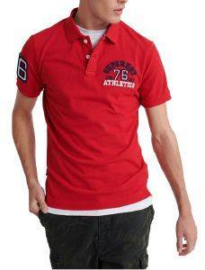 T-SHIRT POLO SUPERDRY CLASSIC SUPERSTATE M1110008A ΚΟΚΚΙΝΟ