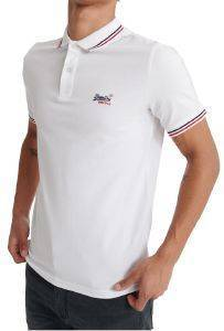 T-SHIRT POLO SUPERDRY CLASSIC MICRO LITE TIPPED M1110012A ΛΕΥΚΟ