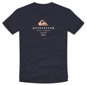 T-SHIRT QUIKSILVER FIRST FIRE EQYZT05841 ΣΚΟΥΡΟ ΜΠΛΕ