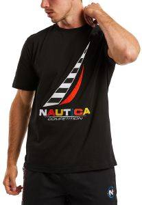 T-SHIRT NAUTICA COMPETITION N7C00081 ΜΑΥΡΟ