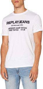T-SHIRT REPLAY JEANS M3178 .000.22980P 001 ΛΕΥΚΟ