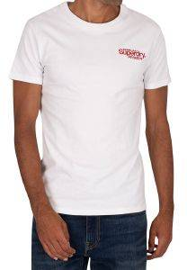 T-SHIRT SUPERDRY CL ATH MICRO M1010353A ΛΕΥΚΟ (M)