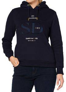 HOODIE SUPERDRY ESTABLISHED W2010397A ΣΚΟΥΡΟ ΜΠΛΕ