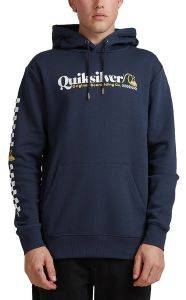HOODIE QUIKSILVER CHECK YO SELF SCREEN FLEECE EQYFT04202 ΣΚΟΥΡΟ ΜΠΛΕ