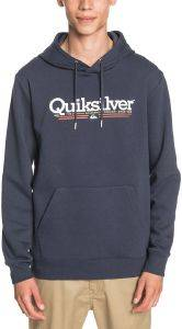 HOODIE QUIKSILVER TROPICAL LINES SCREEN FLEECE  EQYFT04204 ΣΚΟΥΡΟ ΜΠΛΕ