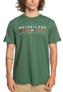 T-SHIRT QUIKSILVER JUNGLE JIM EQYZT06059 ΣΚΟΥΡΟ ΠΡΑΣΙΝΟ