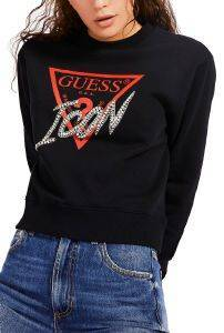 ΦΟΥΤΕΡ GUESS ICON LOGO FLEECE W0YQ47K68I0 ΜΑΥΡΟ