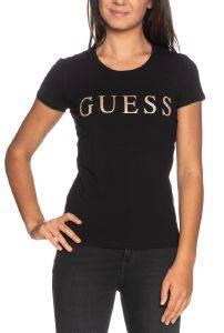T-SHIRT GUESS ANGELIKA W0YI0LJ1300 ΜΑΥΡΟ (S)