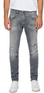 JEANS REPLAY ANBASS SLIM M914Y .000.199 844 096 ΓΚΡΙ