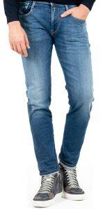 JEANS REPLAY ANBASS SLIM HYPERFLEX RE-USED M914Y .000.661RI12 007 ΣΚΟΥΡΟ ΜΠΛΕ