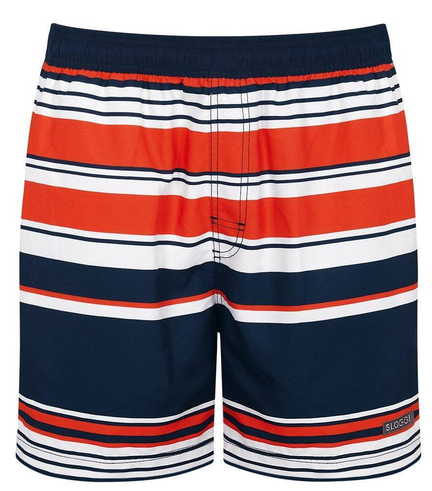BOXER SLOGGI SWIM NAVY CLIPPER  ΜΠΛΕ ΠΟΡΤΟΚΑΛΙ