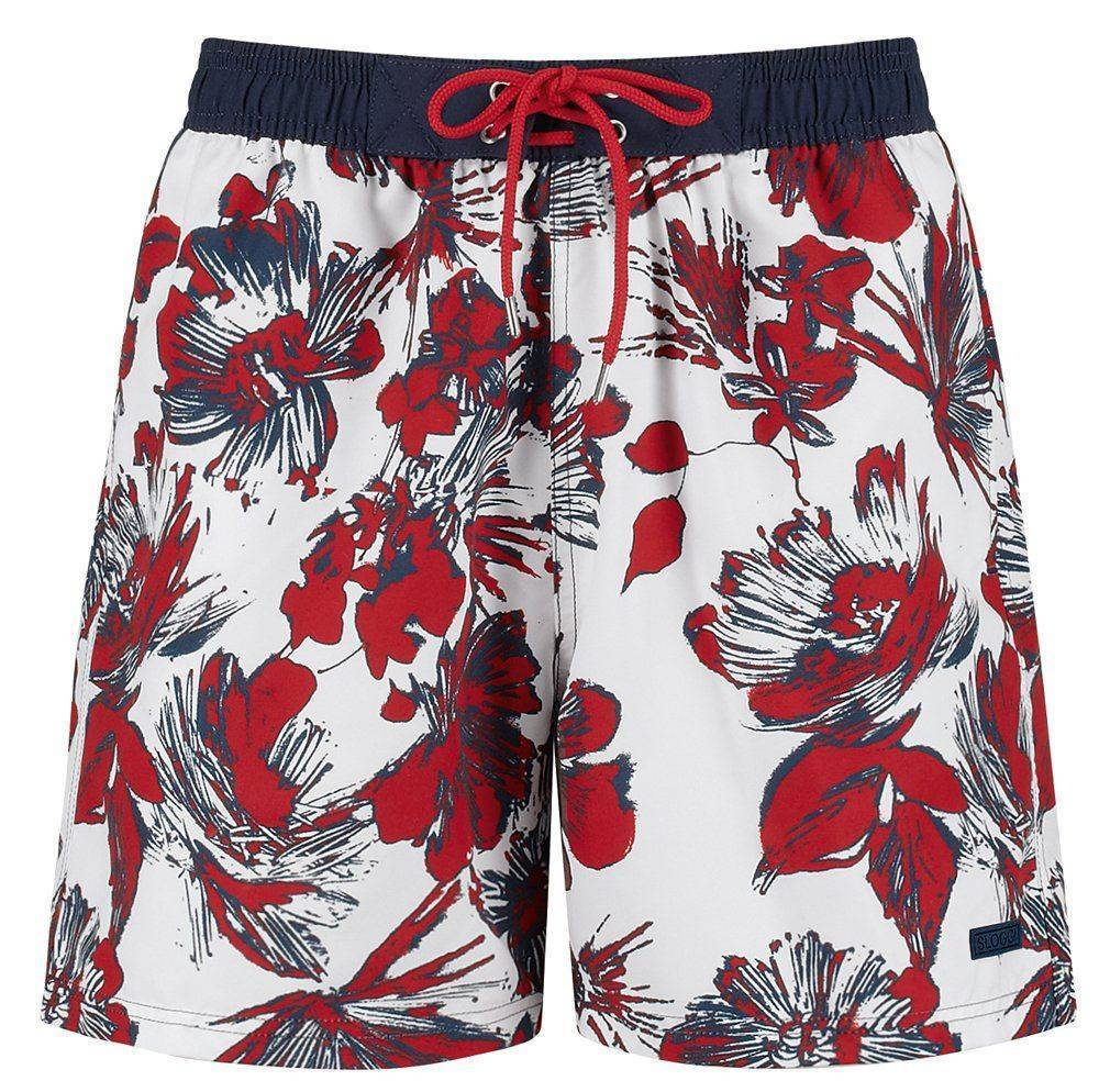 BOXER SLOGGI SWIM RED KITE 02 ΚΟΚΚΙΝΟ ΛΕΥΚΟ