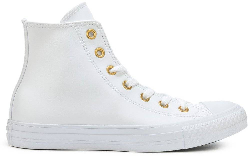968850779cd ΜΠΟΤΑΚΙ CONVERSE ALL STAR CHUCK TAYLOR HI 555961C WHITE/GOLD ...