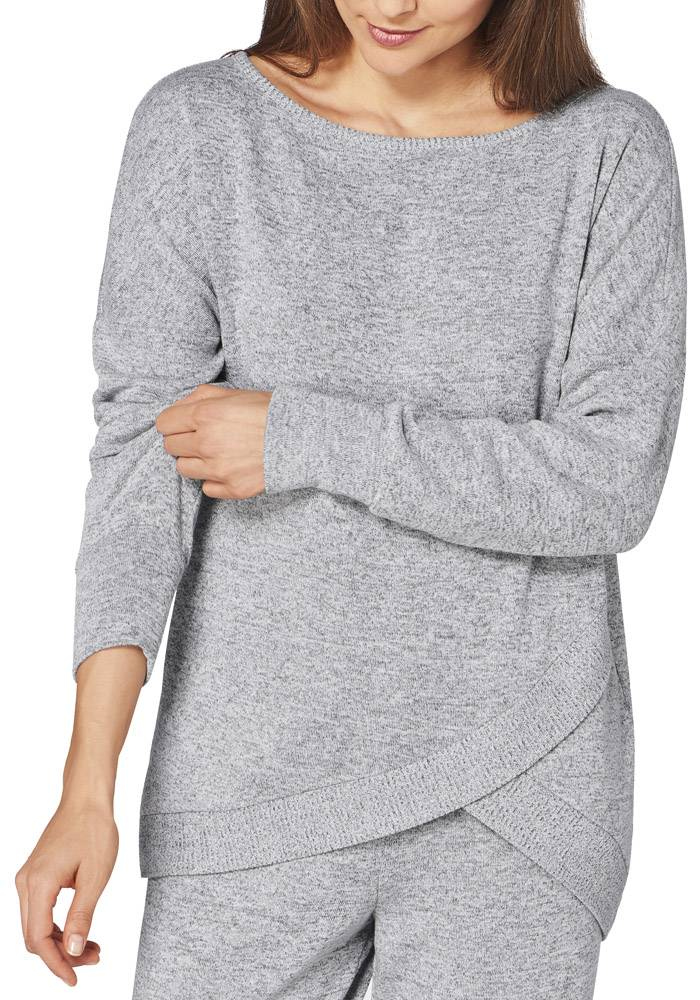TOP TRIUMPH THERMAL SWEATER ΓΚΡΙ ΜΕΛΑΝΖΕ