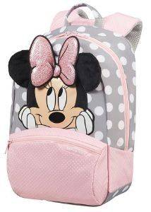 ΣΑΚΙΔΙΟ SAMSONITE DISNEY ULTIMATE 2.0 MINNIE GLITTER S+ ΡΟΖ/ΓΚΡΙ