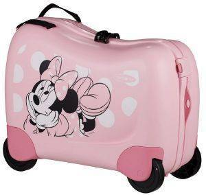 ΒΑΛΙΤΣΑ ΚΑΜΠΙΝΑΣ SAMSONITE DREAM RIDER SPINNER 50/21 MINNIE GLITTER ΡΟΖ