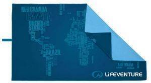 ΠΕΤΣΕΤΑ LIFEVENTURE SOFTFIBRE TREK TOWEL WORLD IN WORDS (150 X 90 CM)