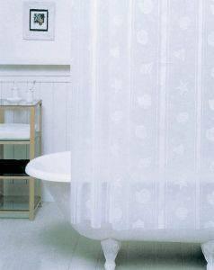 ΚΟΥΡΤΙΝΑ ΜΠΑΝΙΟΥ SAN LORENTZO RS-163 PVC 180X180CM λευκά είδη μπανιο κουρτινεσ πλαστικεσ