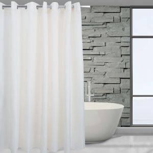 ΚΟΥΡΤΙΝΑ ΜΠΑΝΙΟΥ DAS HOME 180Χ240 ΙΒΟΥΑΡ 1071 λευκά είδη μπανιο κουρτινεσ πολυεστερικεσ
