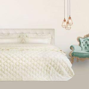 ΣΕΤ ΝΥΦΙΚΟ ΥΠΕΡΔΙΠΛΟ DAS HOME WEDDING LINE ΕΚΡΟΥ 7042 7TMX λευκά είδη νυφικο κρεβατι νυφικο κρεβατι