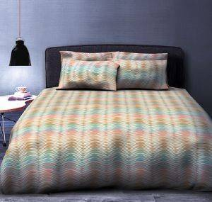 ΚΟΥΒΕΡΛΙ ΥΠΕΡΔΙΠΛΟ BIOKARPET GALLERY COMFORTER 606 WAVES PASTEL 220Χ240CM