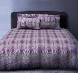 ΚΟΥΒΕΡΛΙ ΥΠΕΡΔΙΠΛΟ BIOKARPET GALLERY COMFORTER 606 WAVES PURPLE 220Χ240CM