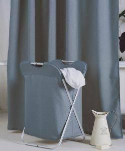 ΚΟΥΡΤΙΝΑ ΜΠΑΝΙΟΥ KENTIA LINUS ΜΠΛΕ 01 POLYESTER ΜΕ12 ΚΡΙΚΟΥΣ180Χ200CM λευκά είδη μπανιο κουρτινεσ πολυεστερικεσ