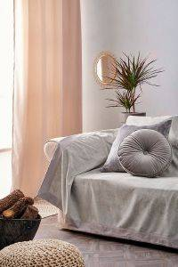 ΡΙΧΤΑΡΙ ΔΙΘΕΣΙΟ PALAMAIKI HOME  MICROFLECE BALLY COLLECTION GREY  180X240CM