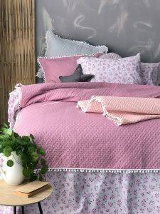 ΚΟΥΒΕΡΛΙ ΜΟΝΟ PALAMAIKI HOME COVER COLLETION JUNIPER MAUVE 160X240CM