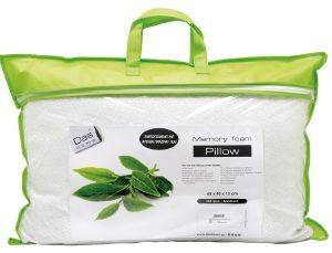 ΜΑΞΙΛΑΡΙ DAS HOMEGREEN TEA-MEMORY FOAM 1042 65X45CM