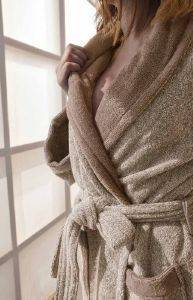 ΜΠΟΥΡΝΟΥΖΙ PALAMAIKI HOME BATHROBE COLLECTION BELAGIO ΜΠΕΖ